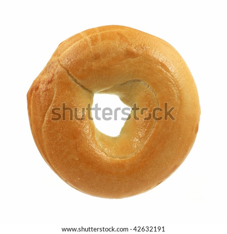Fresh plain bagel