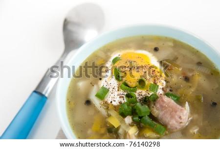 Fresh Potato and Leek Soup with Cream