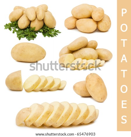 Fresh potato isolated on white background