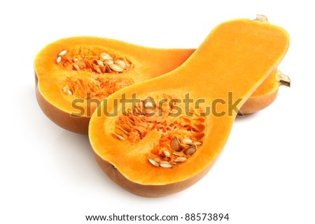 Fresh pumpkin on a white background #88573894