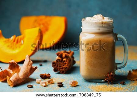 fresh pumpkin spiced latte or...