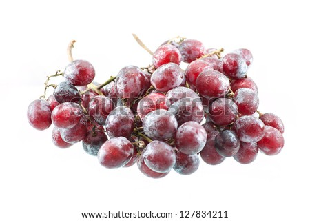 Fresh Purple Grape Fruit On White Background Stock Photo 127834211 ...