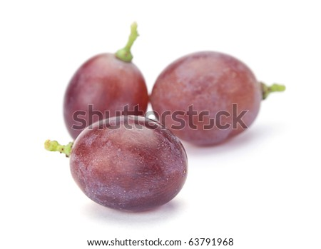 Fresh Purple Grape Fruit On White Background Stock Photo 63791968 ...
