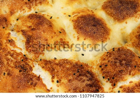 Fresh Ramazan Pidesi ( Ramadan Bread ) isolated #1107947825