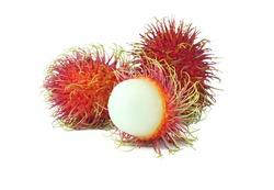 Fresh rambutan sweet delicious fruit isolated on white background