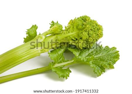 Fresh  rapini or broccoli rabe  isolated on white background Foto stock ©