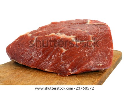 Fresh raw beef isolated on white