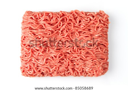Fresh raw minced beef meat