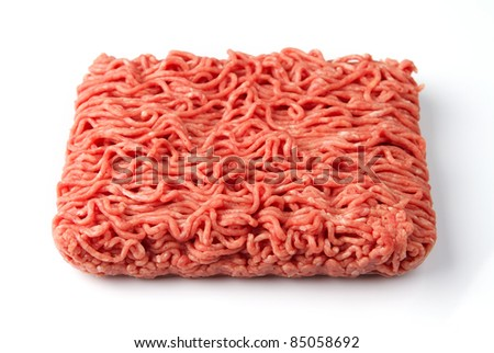 Fresh raw minced beef meat - stock photo