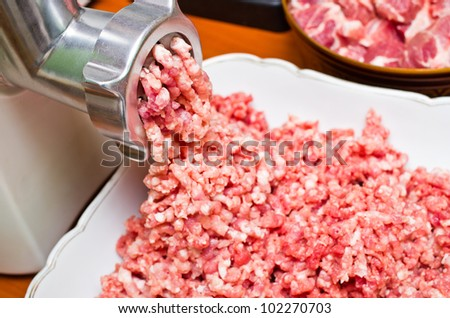 Fresh raw minced meat preparation