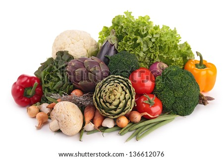 fresh raw vegetables