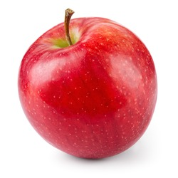 Fresh red apple isolated on white. With clipping path.
