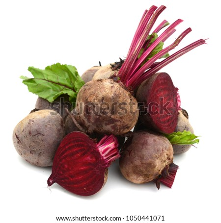 fresh red beet roots