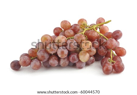 Fresh red grape isolated on white