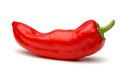 Fresh red pepper isolated on white background