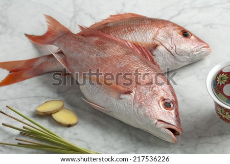 Fresh red snappers ready to cook