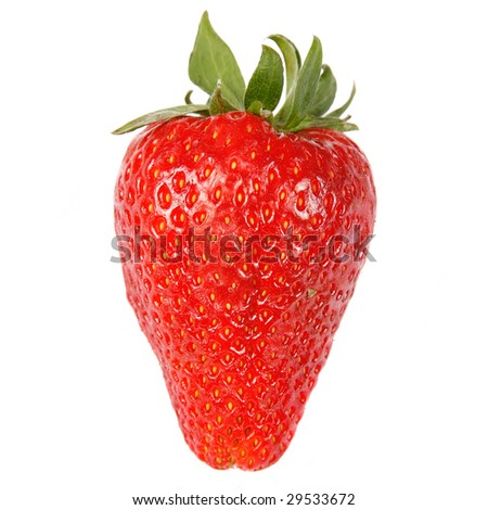 Fresh red strawberry on white isolated background