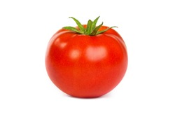 Fresh red tomato isolated on a white background