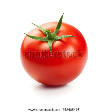 Fresh red tomato isolated on white background #452485495