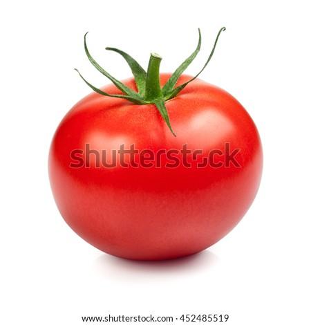 Fresh red tomato isolated on white background #452485519