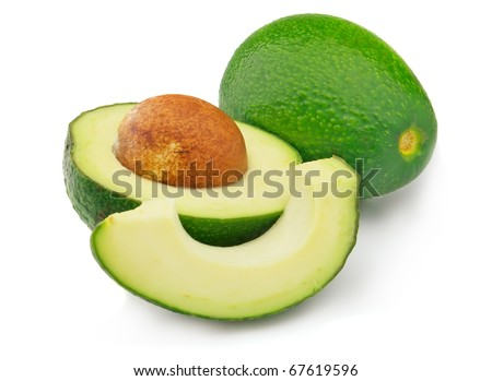 Fresh ripe avocado