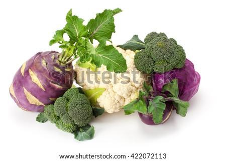 fresh , ripe cabbage isolated on white background. #422072113