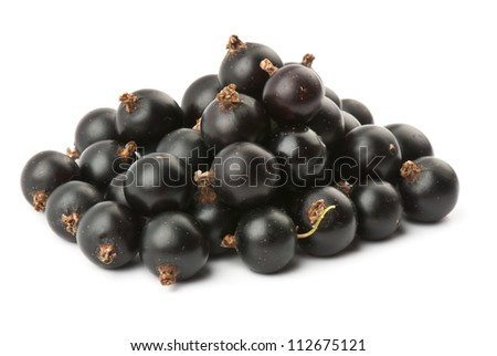 fresh ripe currant photographed closeup isolated on a white background.