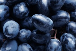 Fresh ripe juicy grapes as background, closeup