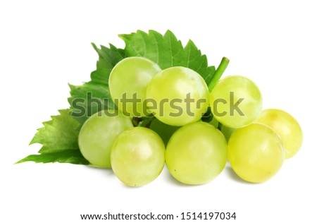 Fresh ripe juicy grapes isolated on white #1514197034