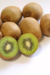 Fresh ripe juicy green kiwifruits