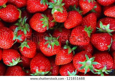 Fresh ripe perfect strawberry - Food Frame Background