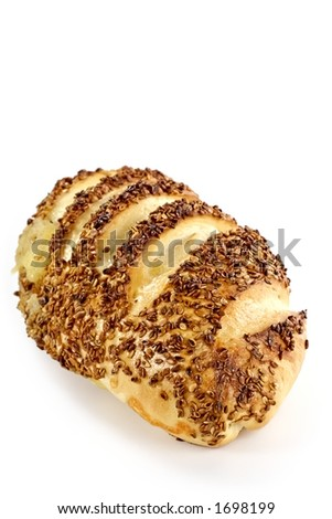 Fresh roll baked with cheese and seeds