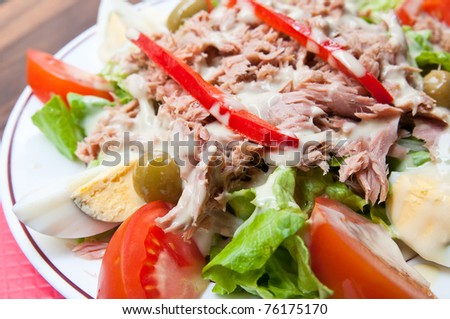 Fresh salad - Delicious fresh salad with tomatoes