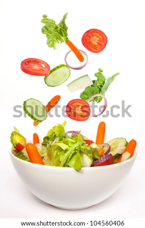 fresh salad in a bowl, fresh and appetizing, delicious