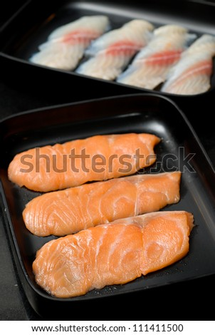 Fresh Salmon slices for BBQ