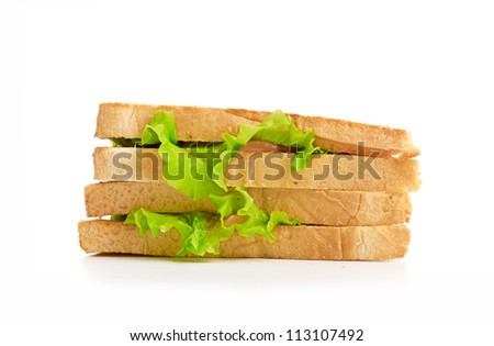 fresh sandwich isolated on a white background