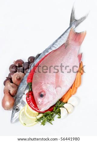 Fresh Sea Food and Vegetables
