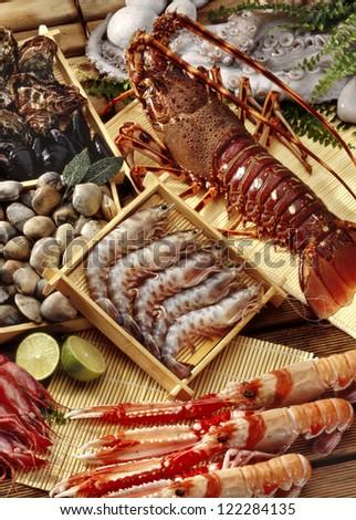 fresh shellfish - stock photo