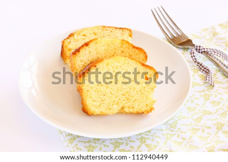 fresh sliced lemon cake