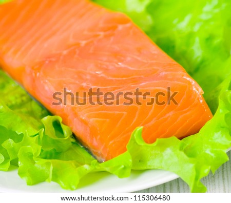 fresh smoked salmon fillet