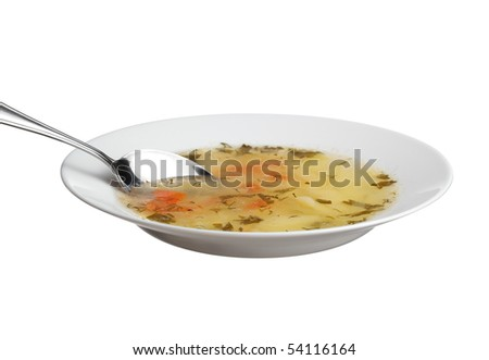 Fresh soup in a dish - stock photo