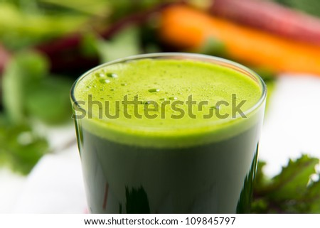 Fresh Spinach or Kale Juice