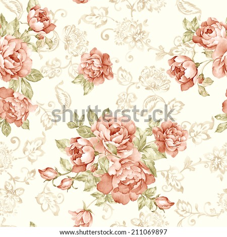 Fresh spring flowers seamless pattern For easy making seamless pattern use it for filling any contours