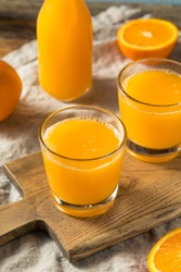 Fresh Squeeze Orange Juice in a Glass