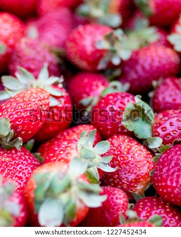 Fresh strawberry close up. #1227452434