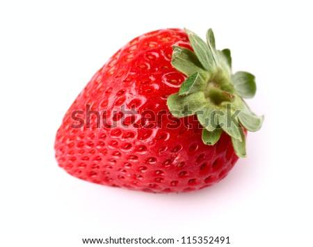 Fresh strawberry in closeup