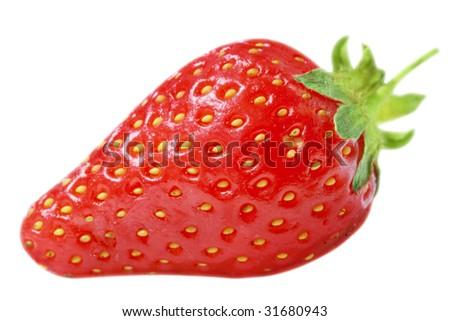 Fresh strawberry. Isolated on white
