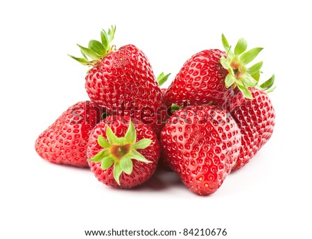 fresh strawberry on the clean isolated background