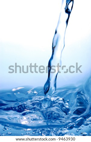 Fresh stream on water surface with lot of motion detail