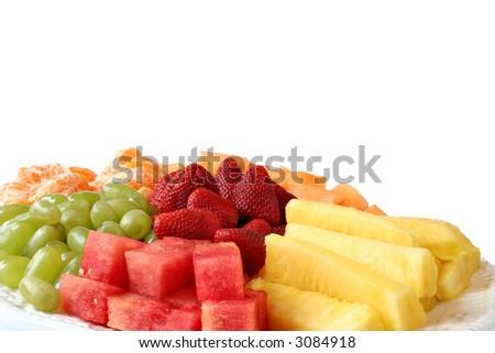 Fresh summer fruit platter